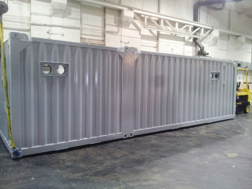 30fots container overflatebehandling VBK Nordic